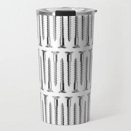 Silver Screws Background Travel Mug