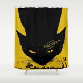 Vintage poster - Black Cat Shower Curtain