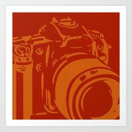 Camera Lines Art Print