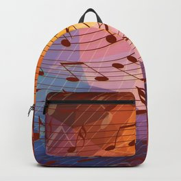 Music notes III Backpack