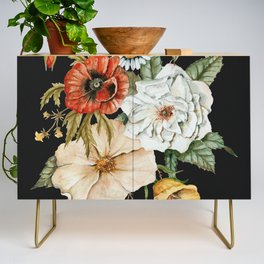 Wildflower Bouquet on Charcoal Credenza