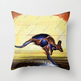 Kangaroo Dreaming Throw Pillow