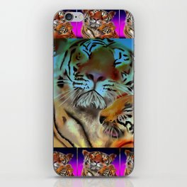 tiger tiger burning bright iPhone Skin