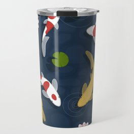 Japanese Koi Fish Pond Travel Mug
