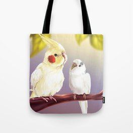 Budgie and Cockatiel Tote Bag