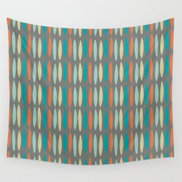 Contemporary Mid-Century Modern Geometric Pattern Wall Tapestry