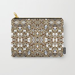jewelry gemstone silver champagne gold crystal Carry-All Pouch