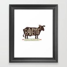bavette Framed Art Print