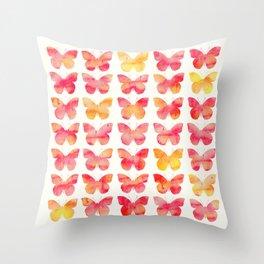 Butterflies Watercolor 1 Throw Pillow