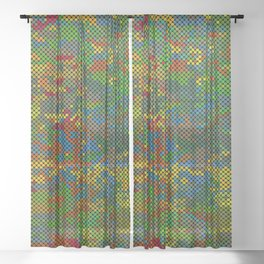 Camouflage Dots Sheer Curtain