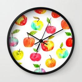 Spring apples Wall Clock