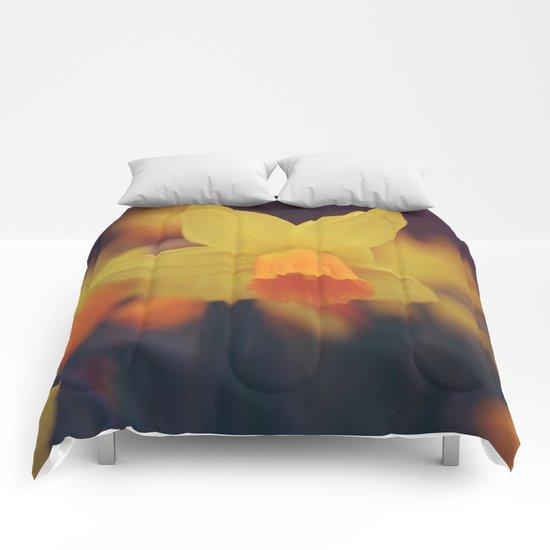Yellow Narcissus #2 Comforters