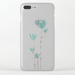 indoor palm tree watercolor Clear iPhone Case