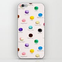 macarons iPhone & iPod Skins featuring Macarons   by Viola Brun Designs