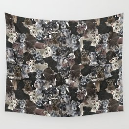 Schnauzer Collage Realistic Wall Tapestry