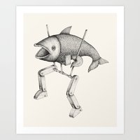 evolution Art Prints featuring 'Evolution I' by Alex G Griffiths
