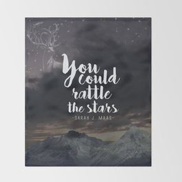 You could rattle the stars (stag included) Throw Blanket