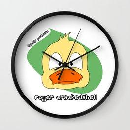Roger Crackedshell - Farmily Portraits Series Wall Clock