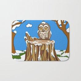 Snowflake the Owl Bath Mat