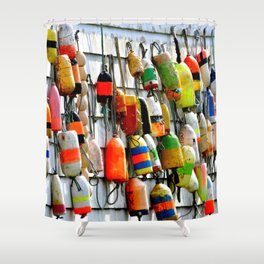 COLOURFUL FISHING FLOATS Shower Curtain