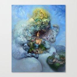 BLUE GOLD FANTASIA Canvas Print