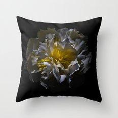 Backyard Flowers 25 Color Version Throw Pillow