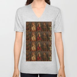 "Sandro Botticelli and Piero del Pollaiolo ""Theological and cardinal virtues"" Unisex V-Neck"