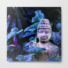 Buddha Waves Metal Print