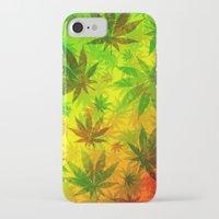 marijuana iPhone & iPod Cases featuring Marijuana Leaves Rasta Colors by BluedarkArt
