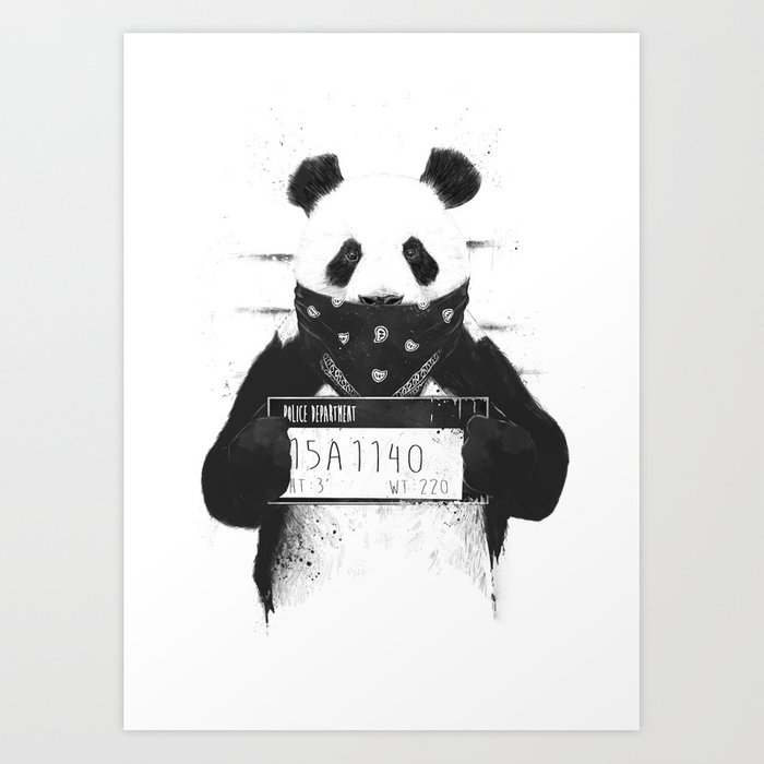 Bad Panda Art Print By Soltib Society6