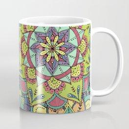 Detailed Multicoloured Layered Mandalas Illustrated Pattern Coffee Mug