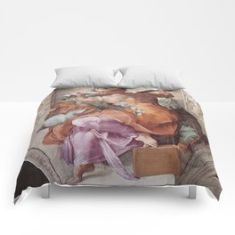 The Libyan Sybil Sistine Chapel Ceiling by Michelangelo Comforters