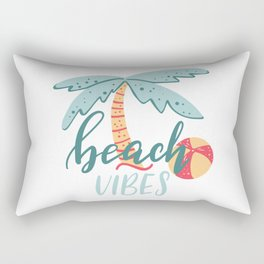 Beach Vibes Lettering Rectangular Pillow