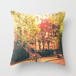 New York City Summer Throw Pillow