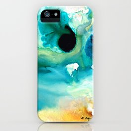 Peaceful Understanding - Abstract Art By Sharon Cummings iPhone Case
