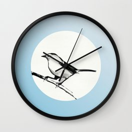Bush Warblers Start Singing in the Mountains Wall Clock