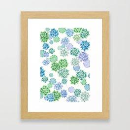 Floral succulent pattern Framed Art Print
