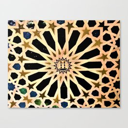 Azulejo de La Alhambra Canvas Print