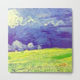 Van Gogh Wheatfields Under Thunderclouds Metal Print
