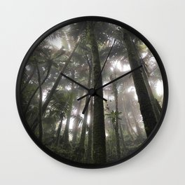 Tropical Jungle - Palm Trees Wall Clock