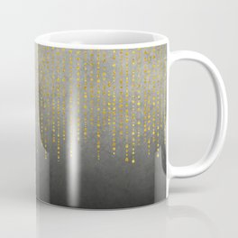 Dark Glamour golden faux glitter Coffee Mug