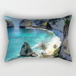 Turquoise Sea on Diamond Beach, Penida Island, Bali Rectangular Pillow