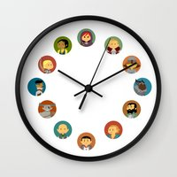 dragon age inquisition Wall Clocks featuring Cute Inquisition by Panda