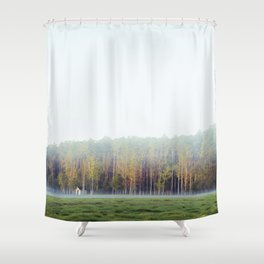 Misty Loneliness  Shower Curtain