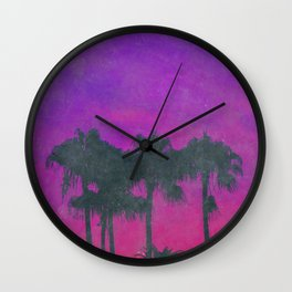 80s Tropical Vibes Wall Clock