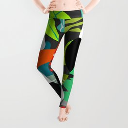 Tropical vibe with toucans Leggings