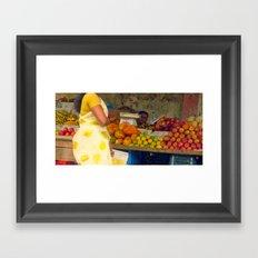 Torso at Fruit Stand, Chennai Framed Art Print