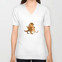 dancing V-neck T-shirts featuring dancing by Orit Bergman