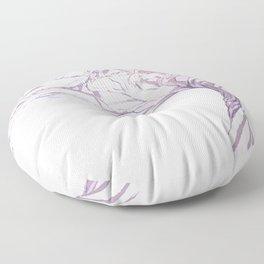 Quiet Acacia Zen Tree , Earthy African Bonsai Peace Lavendar Purple Floor Pillow