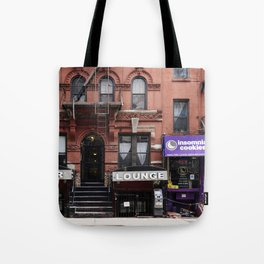 Stores and business in MacDougal Street, NYC Tote Bag